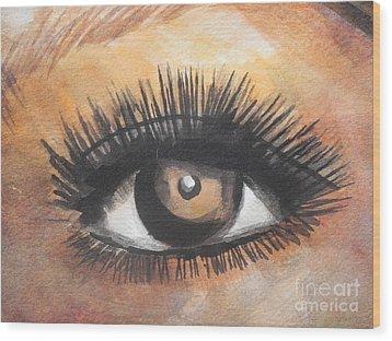 Watercolor Eye Wood Print
