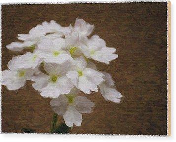 Watercolor Of Daisies Wood Print