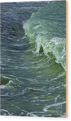 Watercolor Wave Wood Print