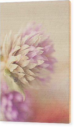 Watercolor Whisper Wood Print by Faith Simbeck