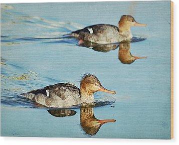 Watercolors In Nature 4 Wood Print by Fraida Gutovich