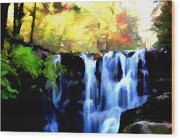 Waterfall 1 Wood Print by Lanjee Chee