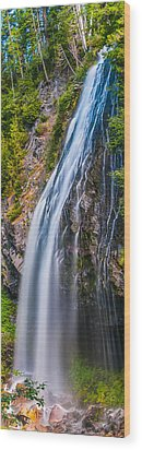 Wood Print featuring the photograph Waterfall 3 by Chris McKenna