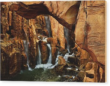 Waterfall 3 Wood Print by Richard Zentner