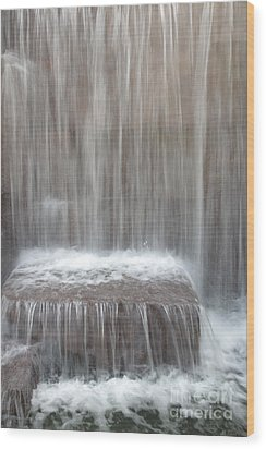 Waterfall At The Fdr Memorial In Washington Dc Wood Print