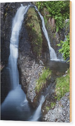 Waterfall Glen Etive Wood Print