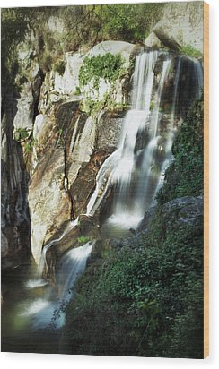 Waterfall I Wood Print by Marco Oliveira