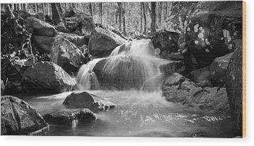 Waterfall In Southeastern Oklahoma Wood Print