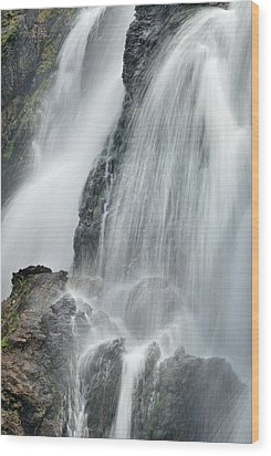 Waterfall In Spring Wood Print by Guido Montanes Castillo