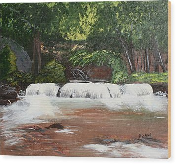 Waterfall Magic Wood Print