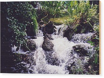Wood Print featuring the photograph Waterfall by Michele Kaiser