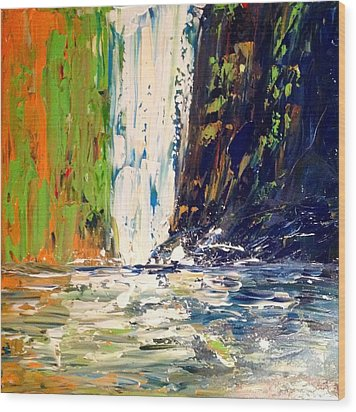 Waterfall No. 1 Wood Print