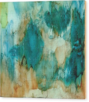 Waterfall Wood Print by Rosie Brown