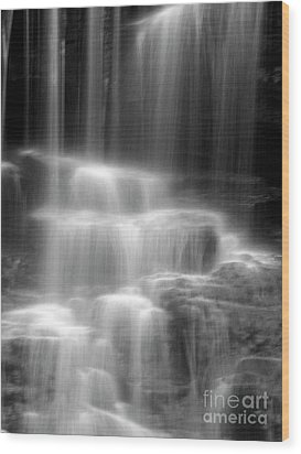 Waterfall Wood Print by Tony Cordoza