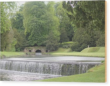 Wood Print featuring the photograph Waterfalls - Fountains Abbey  by David Grant