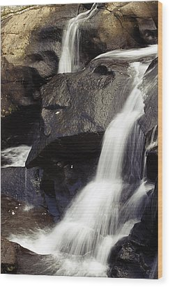 Waterfalls Wood Print by Les Cunliffe