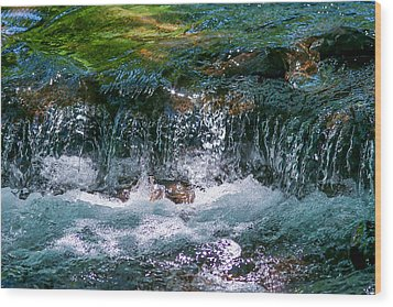 Waterflow Wood Print by Dennis Bucklin