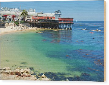 Waterfront At Cannery Row Wood Print