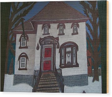 Historic 7th Street Home In Menominee Wood Print