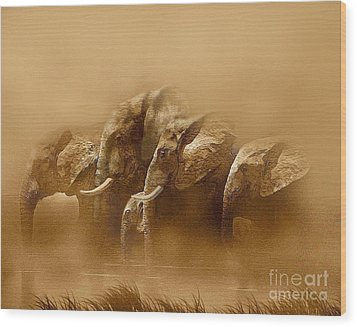 Watering Hole Wood Print by Robert Foster