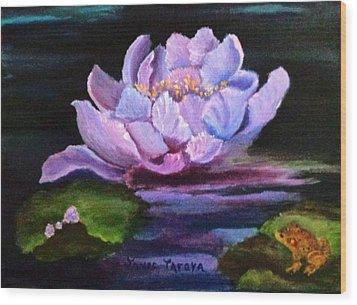 Waterlillie Wood Print by Janis  Tafoya