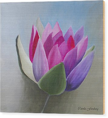 Waterlily Wood Print by Carola Ann-Margret Forsberg