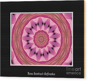 Wood Print featuring the photograph Waterlily Flower Kaleidoscope 3 by Rose Santuci-Sofranko
