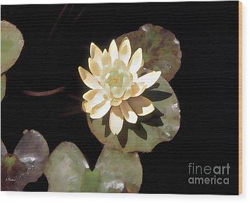 Waterlily II Wood Print by Linda  Parker