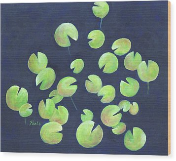 Waterlily Pool Wood Print