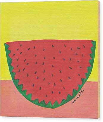 Watermelon 1 Wood Print