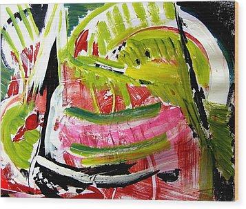 'watermelon' Wood Print by Carol Skinner