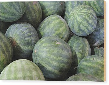 Watermelons Wood Print by Bradford Martin