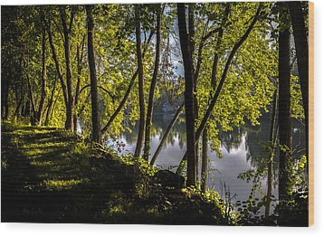 Waters Edge Wood Print by Bob Orsillo