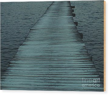 Wood Print featuring the photograph Water's Path by Joy Angeloff