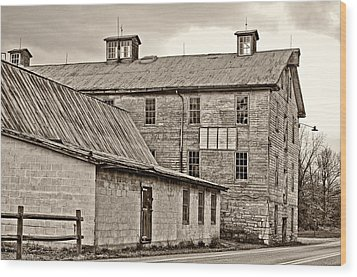 Waterside Woolen Mill Wood Print by Steve Harrington