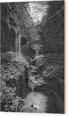 Watkins Glen 02 Bw Wood Print
