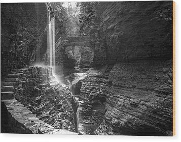 Watkins Glen 04 Bw Wood Print
