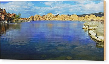 Watson Lake #2 Wood Print by Richard Henne