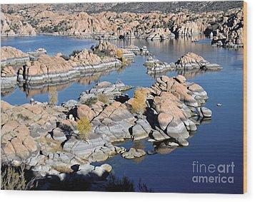 Watson Lake And The Granite Dells Wood Print by Jim Chamberlain
