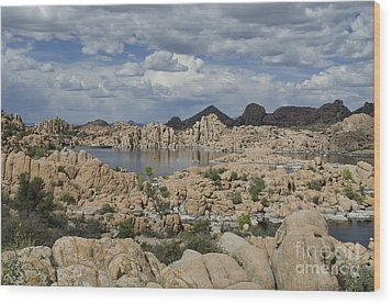 Watson Lake Arizona Wood Print
