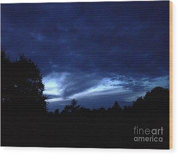 Watsonville Night Wood Print