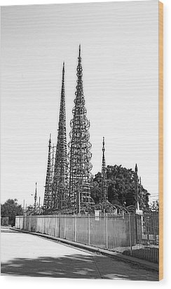 Watts Towers Wood Print
