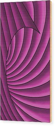 Wood Print featuring the digital art Wave - Fuchsia  by Judi Quelland