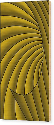 Wood Print featuring the digital art Wave - Golds by Judi Quelland