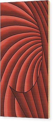 Wood Print featuring the digital art Wave - Reds by Judi Quelland