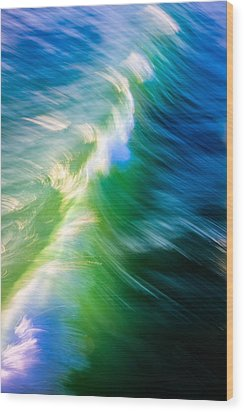 Wave Abstract Triptych 1 Wood Print