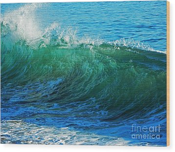 Wave Action Wood Print by Everette McMahan jr