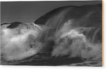 Wave Wood Print by Alasdair Turner