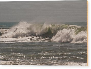 Wood Print featuring the photograph Wave At Kirk Creek Beach by Lee Kirchhevel