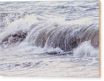 Wave In Stormy Ocean Wood Print by Elena Elisseeva